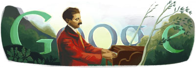 Google Logo: Enrique Granados 144th birthday - Spanish pianist and composer